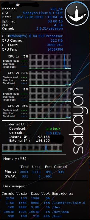 sabayon system monitor quad core